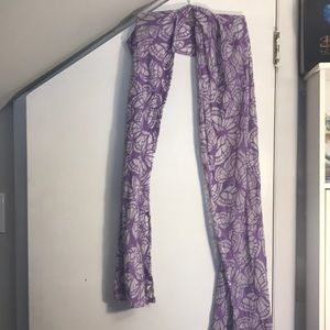 Purple butterfly scarf
